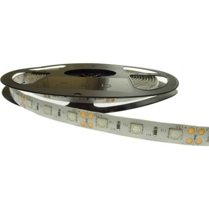BANDA LED 60x3528 4.8W IP65 VERDE