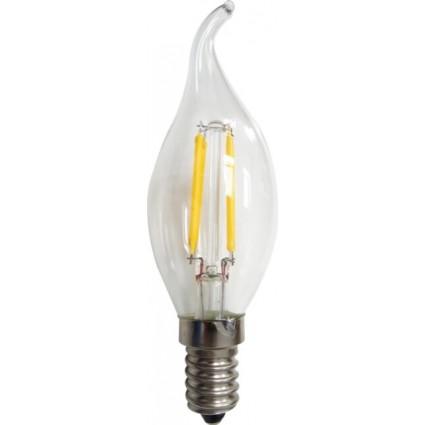 BEC LED FILAMENT E14 4W FLACARA C35 ALB CALD