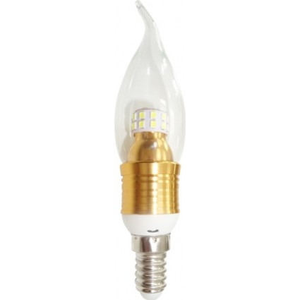 BEC LED E14 5W FLACARA C35 TRANSPARENT