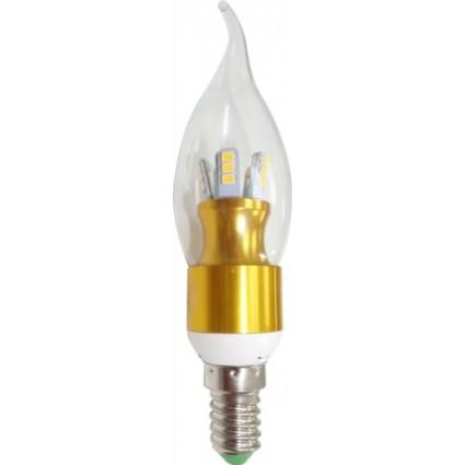 BEC LED E14 5W DIMABIL FLACARA C35 TRANSPARENT