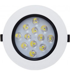 SPOT POWER LED 12X1W ROTUND RAMA ALBA