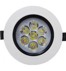 SPOT POWER LED 7X1W ROTUND RAMA ALBA