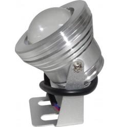 SPOT LED 10W 12V IP65 ALB RECE CU LUPA