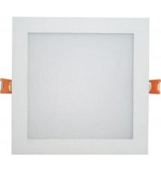 SPOT LED 24W PATRAT SLIM MAT ALB NATURAL