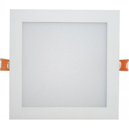 SPOT LED 24W PATRAT SLIM MAT ALB NATURAL