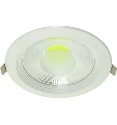 SPOT COB LED 20W DOWNLIGHT ROTUND ALB RECE