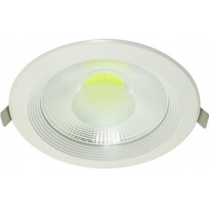 SPOT COB LED 20W DOWNLIGHT ROTUND ALB RECE