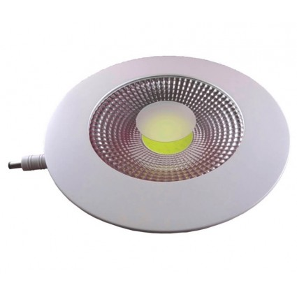 SPOT LED 15W ROTUND TRANSPARENT ALB CALD