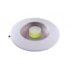 SPOT LED 10W ROTUND TRANSPARENT ALB CALD