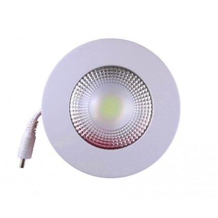 SPOT LED 5W ROTUND TRANSPARENT ALB RECE