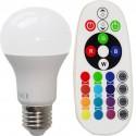 BEC LED E27 8W RGB - ALB RECE CU TELECOMANDA