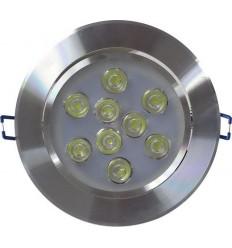 SPOT LED 9X1W ROTUND RAMA ALUMINIU