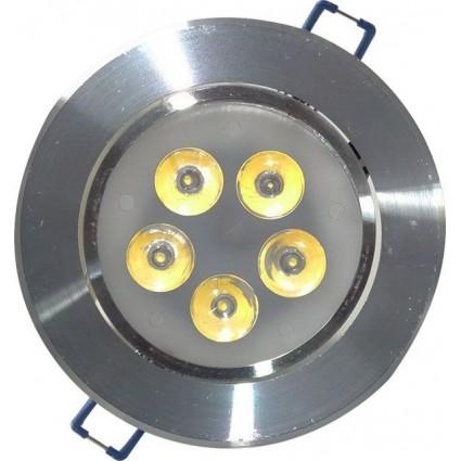 SPOT LED 5X1W ROTUND RAMA ALUMINIU