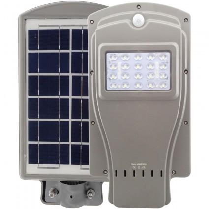 LAMPA STRADALA LED 20W CU PANOU SOLAR SI SENZOR