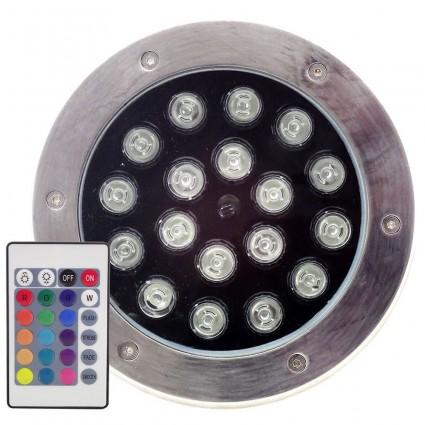 SPOT LED PAVAJ 18X1W IP65 RGB CU TELECOMANDA