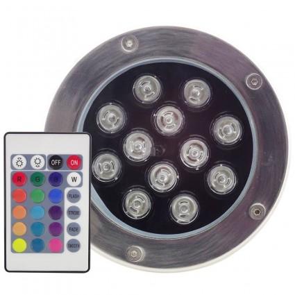 SPOT LED PAVAJ 12X1W IP65 RGB CU TELECOMANDA