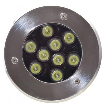 SPOT LED PAVAJ 9X1W IP65 ALB RECE