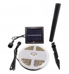 KIT BANDA LED 30x3528 IP65 ALB NATURAL CU PANOU SOLAR - 3 METRI