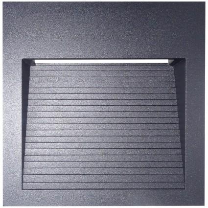 SPOT LED 6W PATRAT APLICAT PE PERETE IP65