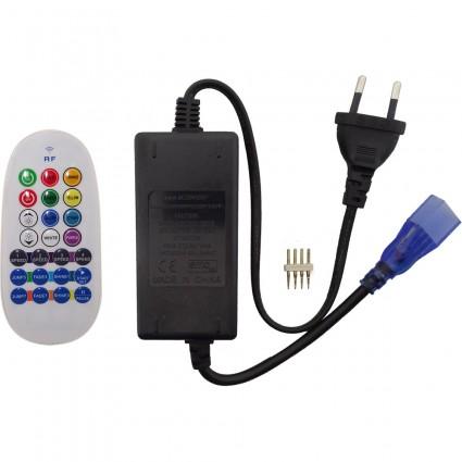 CONTROLLER BANDA LED RGB 220V CU TELECOMANDA RADIO FRECVENTA