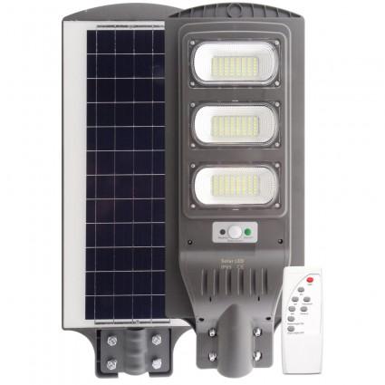 Lampa Stradala Led 90W Cu Panou Solar Senzor Si Telecomanda