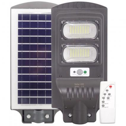 Lampa Stradala Led 60W Cu Panou Solar Senzor Si Telecomanda