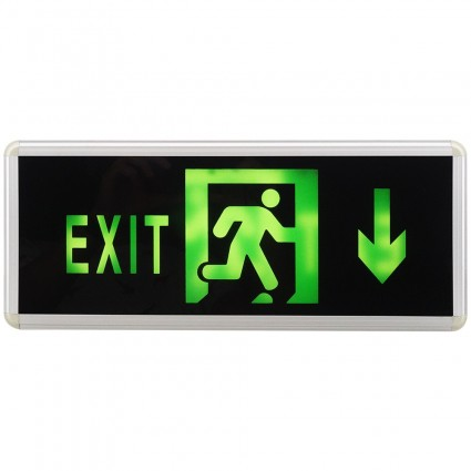 Lampa Iluminat Emergenta Exit Sageata Jos Cu 2 Fete