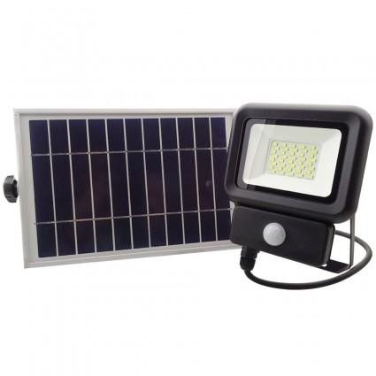 Proiector Cu Panou Solar 20W Led Smd Si Senzor Miscare IP65