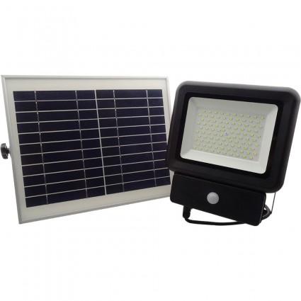Proiector Cu Panou Solar 50W Led Smd Si Senzor Miscare IP65