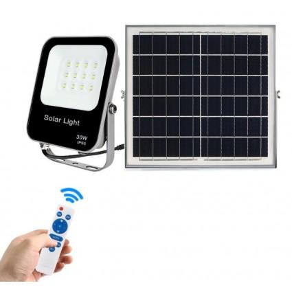 Proiector Cu Panou Solar 30W Led Si Telecomanda