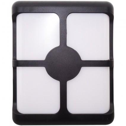 Aplica Led Bat Neagra 24W Ip65 Alb Rece 15BD