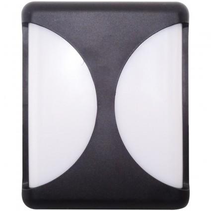 Aplica Led Bat Neagra 24W Ip65 Alb Rece 14BD