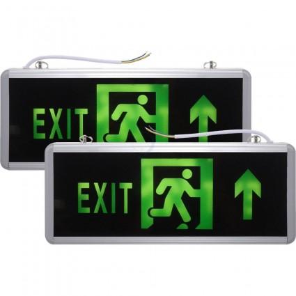 Lampa Iluminat Siguranta Exit Sageata Sus - 2 Fete