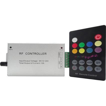 CONTROLLER MUZICA LED RGB 12A + TELECOMANDA 20