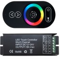 RGB LED CONTROLLER 18A + RF TOUCH NEAGRA