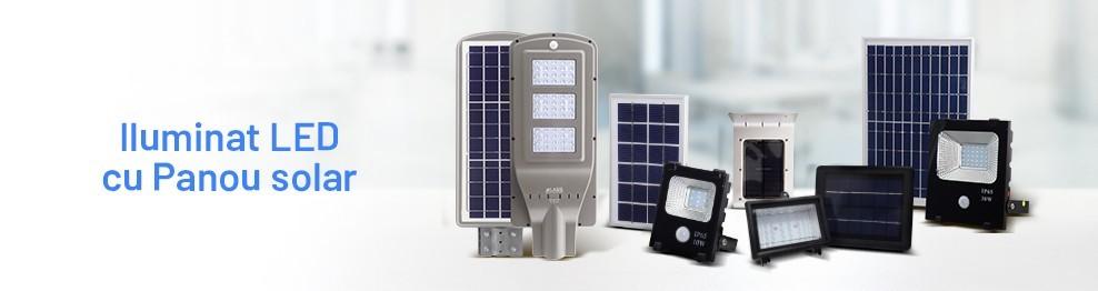 Iluminat LED cu Panou Solar